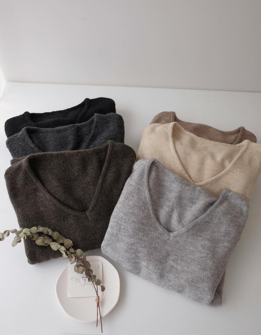 超柔軟寬鬆V領毛衣*6色
