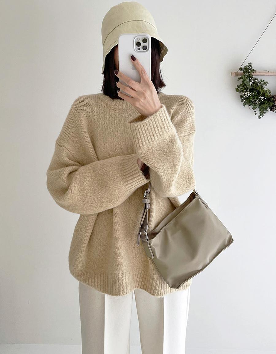 羊羔小包柔軟寬鬆毛衣*5色