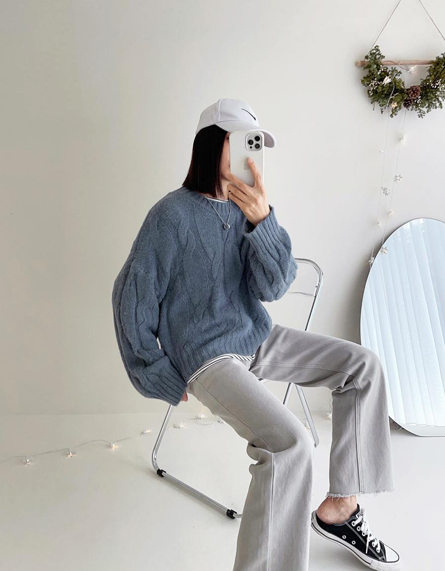 經典麻花鬆軟毛衣*4色