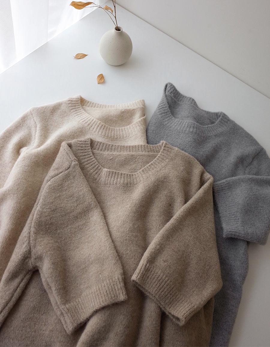 QQ超柔軟短袖毛衣*3色