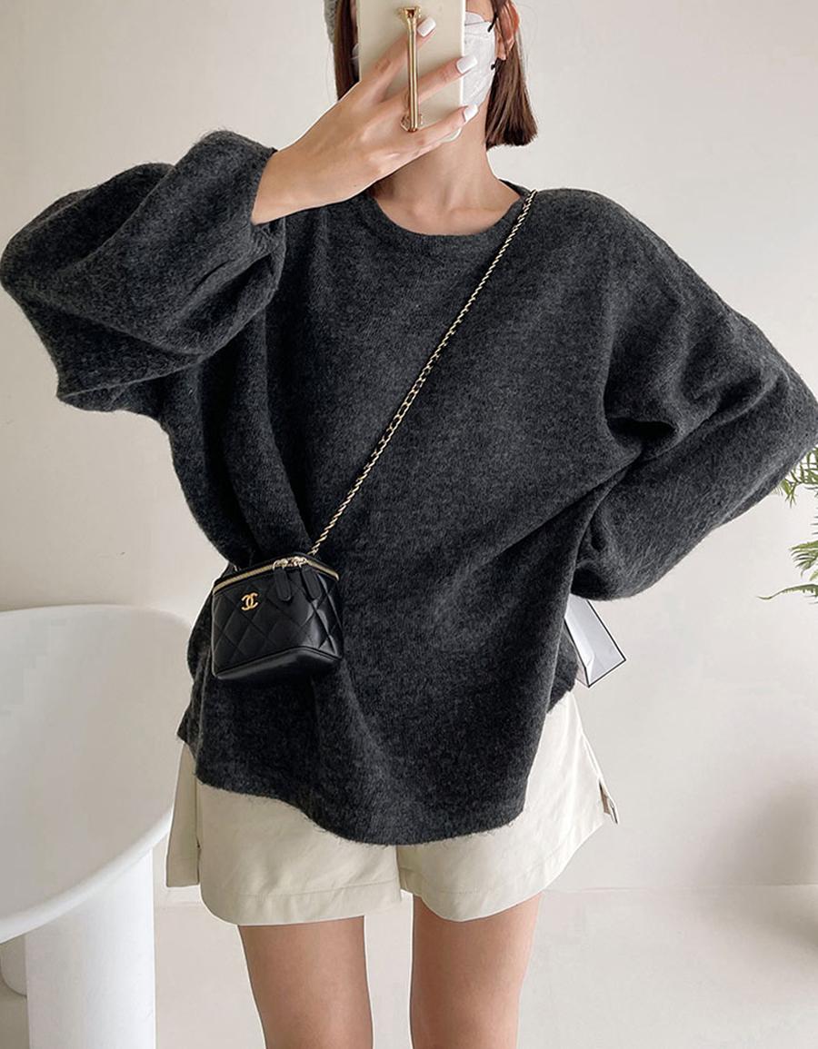 超柔軟澎袖寬鬆毛衣*5色