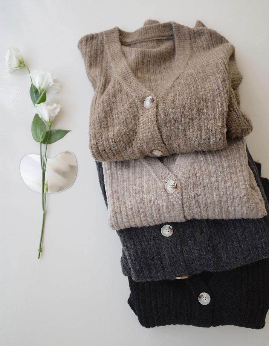 直坑紋超柔軟毛衣外套*4色