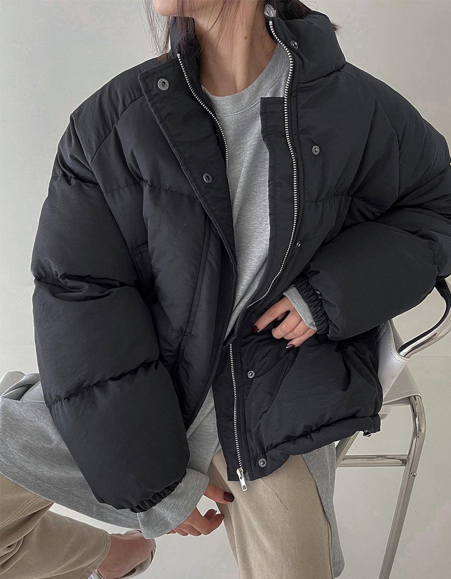 立領鋪棉麵包外套*3色