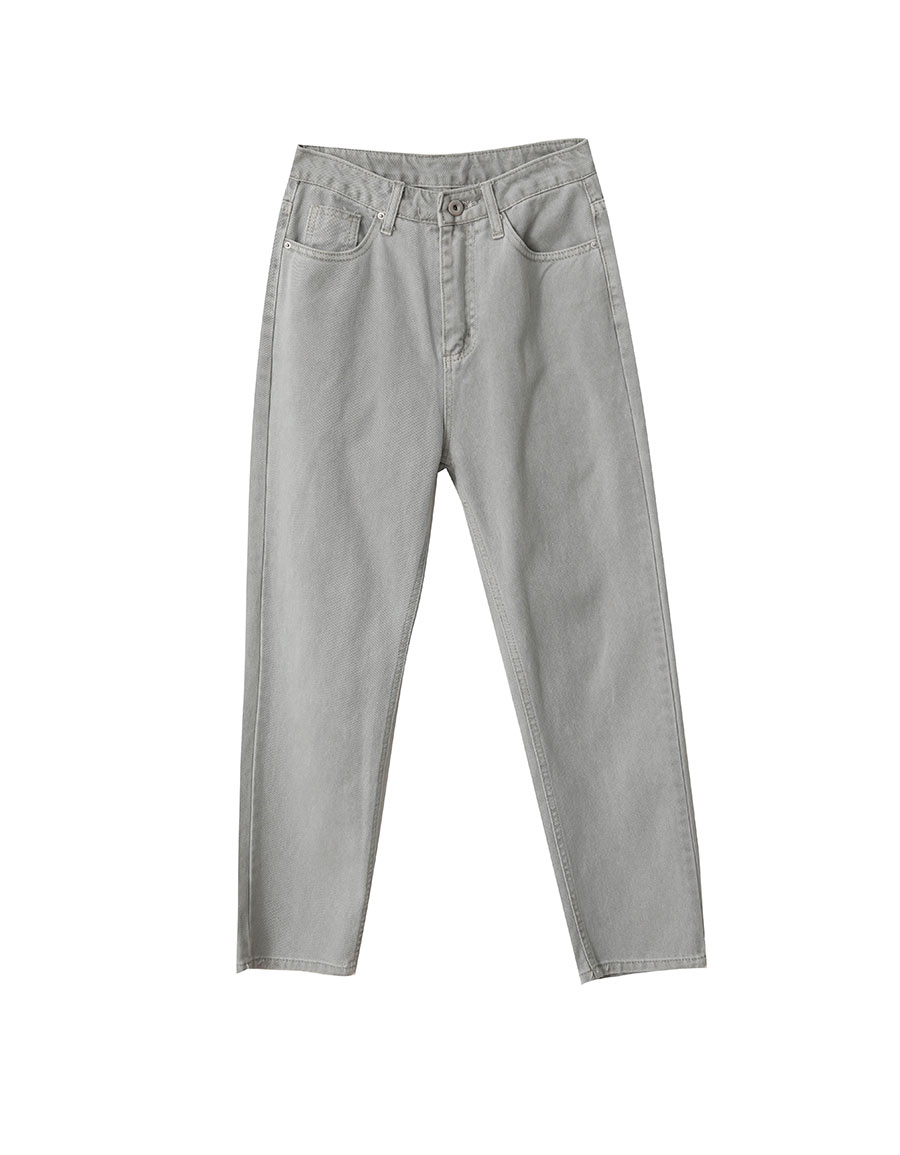 霧灰小直筒牛仔褲*1色
