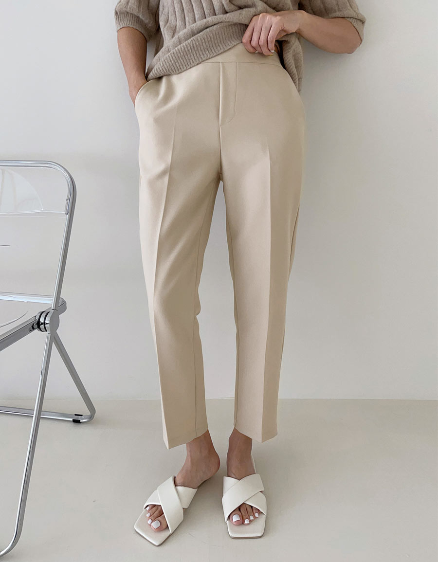 後腰彈性平口西裝褲*3色
