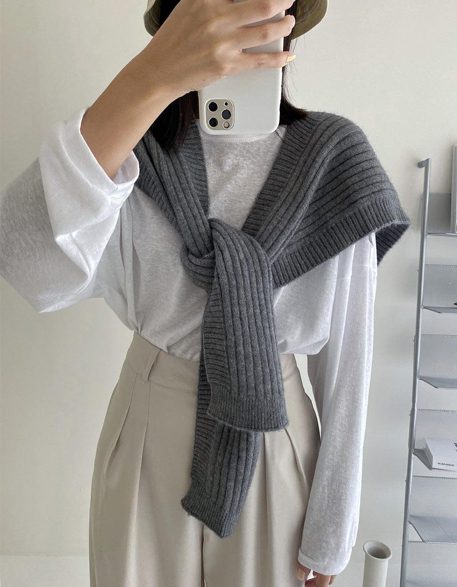 超柔手感毛線披巾*5色