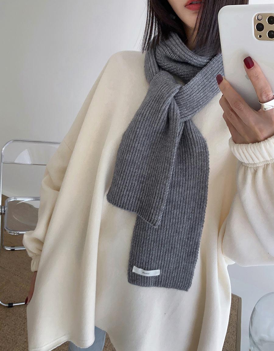 親膚毛線小圍巾*4色