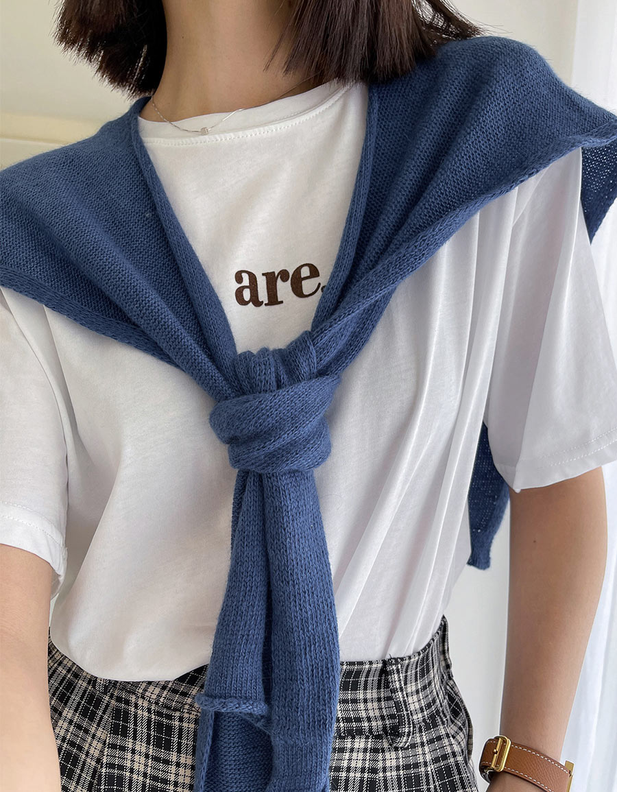 柔軟細織披巾*6色