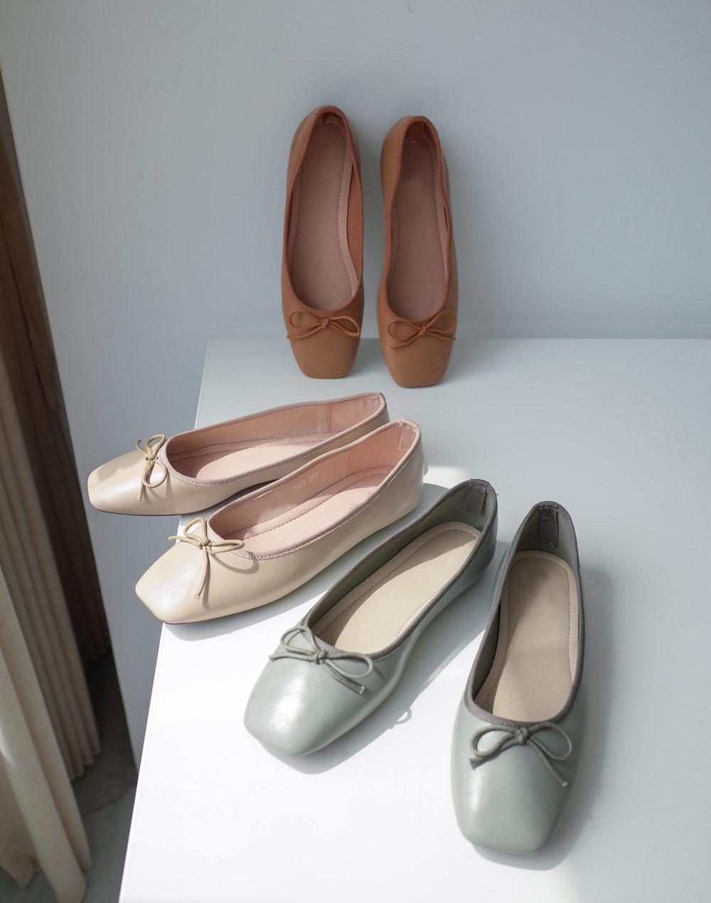 蝴蝶結娃娃鞋*3色