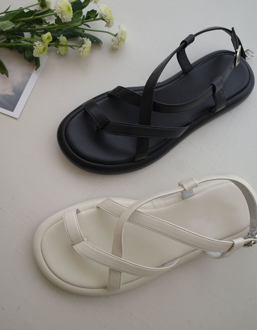交叉平底涼鞋*2色